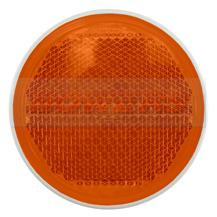 Jokon Amber/Orange 85mm Round Stick On Side Reflector